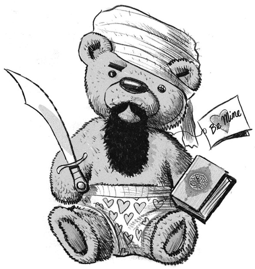 Illustration: Shariah Bear by Alexander Hunter for The Washington Times