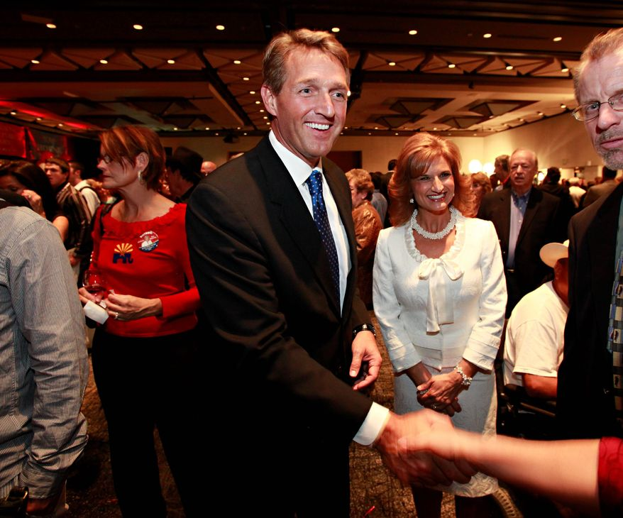 Rep. Jeff Flake, Arizona Republican, voted against the budget blueprint and pushed for further cuts in spending. (Associated Press)