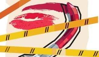 Illustration: Honor killing by Linas Garsys for The Washington Times