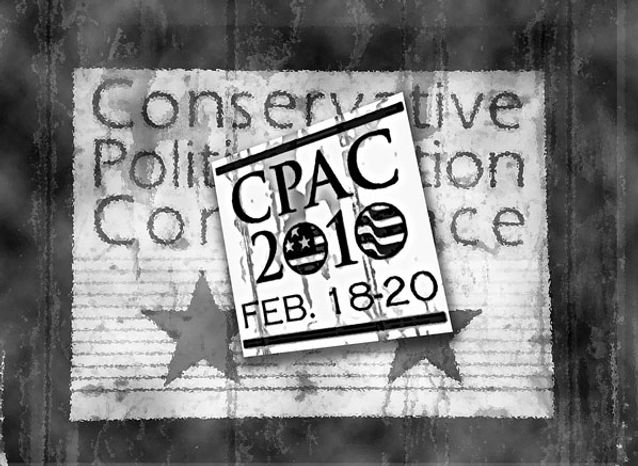 Illustration: CPAC by Greg Groesch for The Washington Times