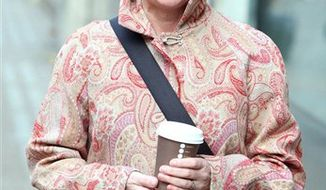 "FILE- This file photo dated Nov. 10, 2010, showing Miriam O'Reilly as she arrives at her employment tribunal in London where she claims she was a victim of sex and age discrimination by the BBC (British Broadcasting Corporation).   O'Reilly went on to win her ageism case against the BBC and they have apologized and said it would introduce new guidance procedures for its presenters. One colleague offered O'Reilly hair dye, another told her ""it's time for botox."" and a third said her wrinkles could be a problem in this new era of high-definition TV,  as she presented the rural affairs BBC TV show Countryfile and was dropped from the show so she decided to fight the BBC for her job. (AP Photo/Steve Parsons) UNITED KINGDOM OUT - NO SALES - NO ARCHIVES"