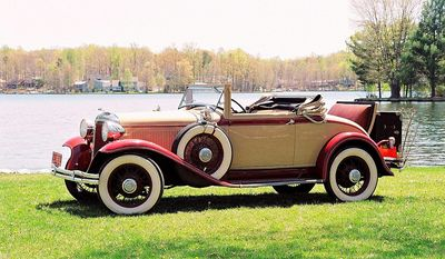 """There is no such thing as a bad angle to view this 1931 Chrysler """"New Series Six"""" convertible coupe."""
