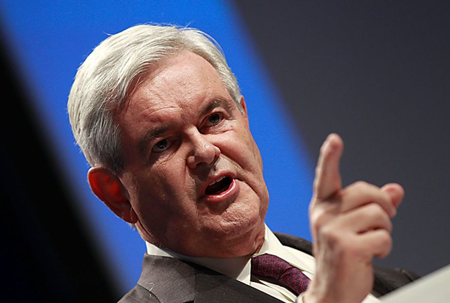 Former House Speaker Newt Gingrich addresses the Conservative Political Action Conference (CPAC) in Washington on Thursday, Feb. 10, 2011. (AP Photo/Alex Brandon)