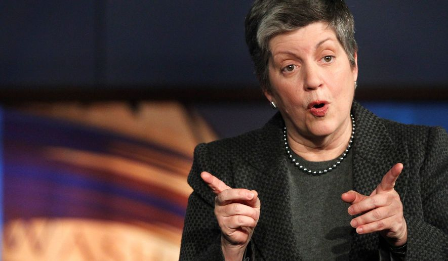 """""""Many kinds of violent motivations threaten our security,"""" said Janet Napolitano, defending her department's actions to Republicans on the House Committee on Homeland Security during a hearing Wednesday. (Associated Press)"""
