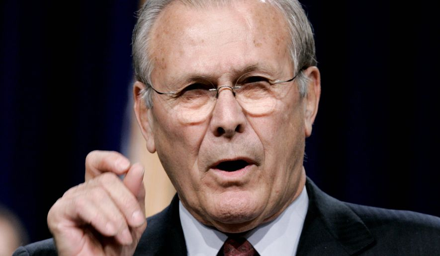 Former Secretary of Defense Donald H. Rumsfeld