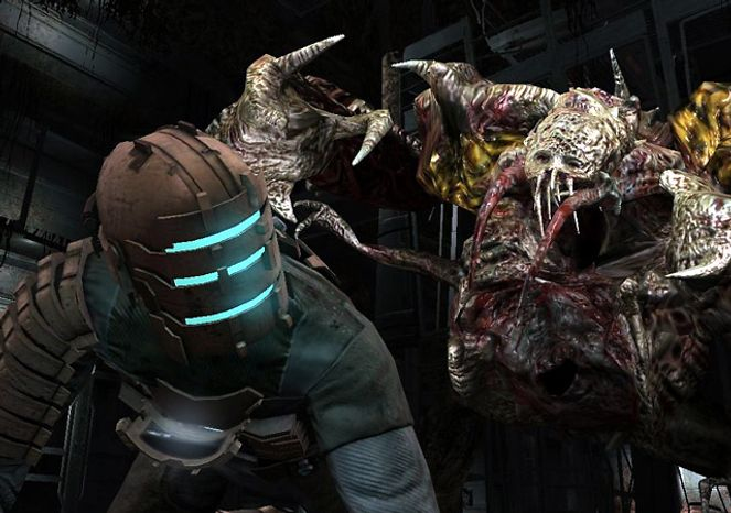 Isaac Clarke and some gross creatures star in Dead Space 2 for the Xbox 360.