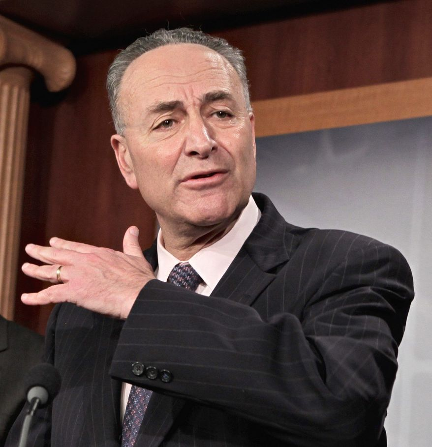 """ASSOCIATED PRESS Sen. Charles E. Schumer, New York Democrat, warns that when """"you try to make cuts this deep to a slice of the budget this narrow, it is almost impossible to do responsibly."""""""