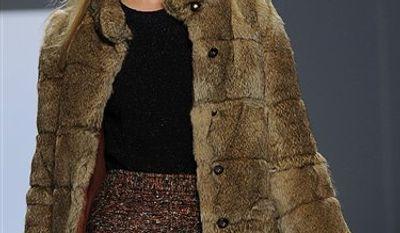 Fall 2011 fashion from designer Jill Stuart is modeled during Fashion Week Saturday, Feb. 12, 2011 in New York. (AP Photo/Stephen Chernin)