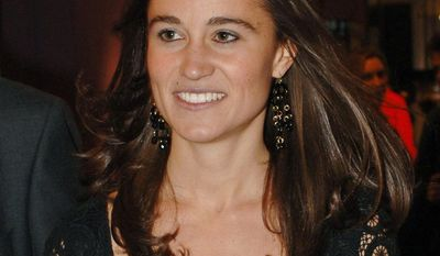 ** FILE ** Philippa Middleton, younger sister of Kate Middleton, Prince William's fiancee, will be maid of honor at the royal wedding in April. (AP Photo/Fiona Hanson/PA Wire, File)