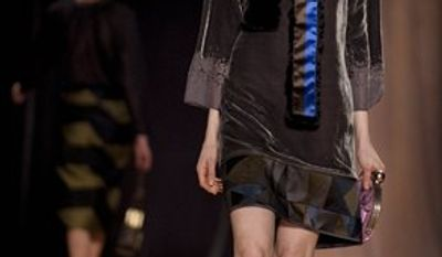 Fall 2011 fashion from designer Cynthia Rowley is modeled during Fashion Week Friday February 11, 2011 in New York.(AP Photo/Stephen Chernin)