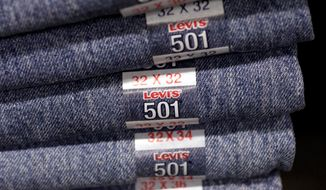 Levi jeans are made of cotton. Cotton has more than doubled in price over the past year, reaching the highest mark since the Civil War. (Associated Press)
