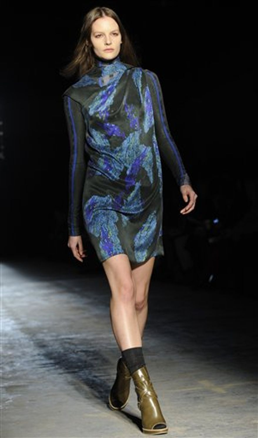 The Edun Fall 2011 collection is modeled during Fashion Week, Saturday, Feb. 12, 2011, in New York. (AP Photo/Louis Lanzano)