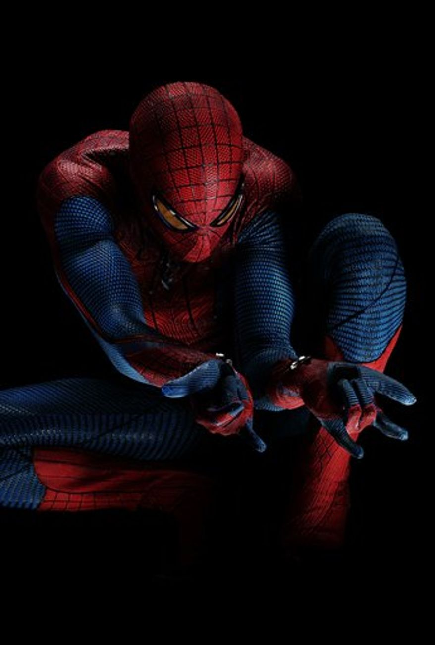 "** FILE ** Andrew Garfield portrays as Spider-Man in Columbia Pictures' ""The Amazing Spider-Man."" (AP Photo/Sony Pictures)"