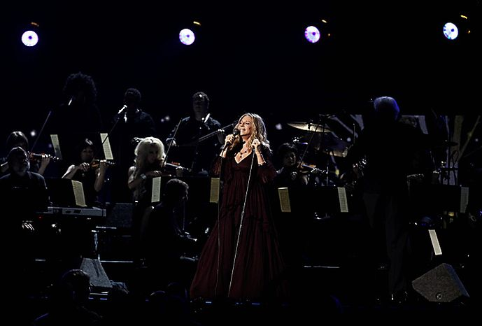 Barbara Streisand performs onstage at the 53rd annual Grammy Awards on Sunday, Feb. 13, 2011, in Los Angeles. (AP Photo/Matt Sayles)