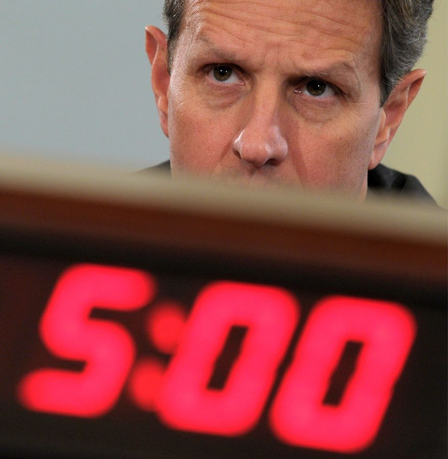 """Treasury Secretary Timothy F. Geithner tells senators that if trade deals with South Korea, Colombia and Panama aren't approved, U.S. """"business just goes to other countries."""" (Associated Press)"""