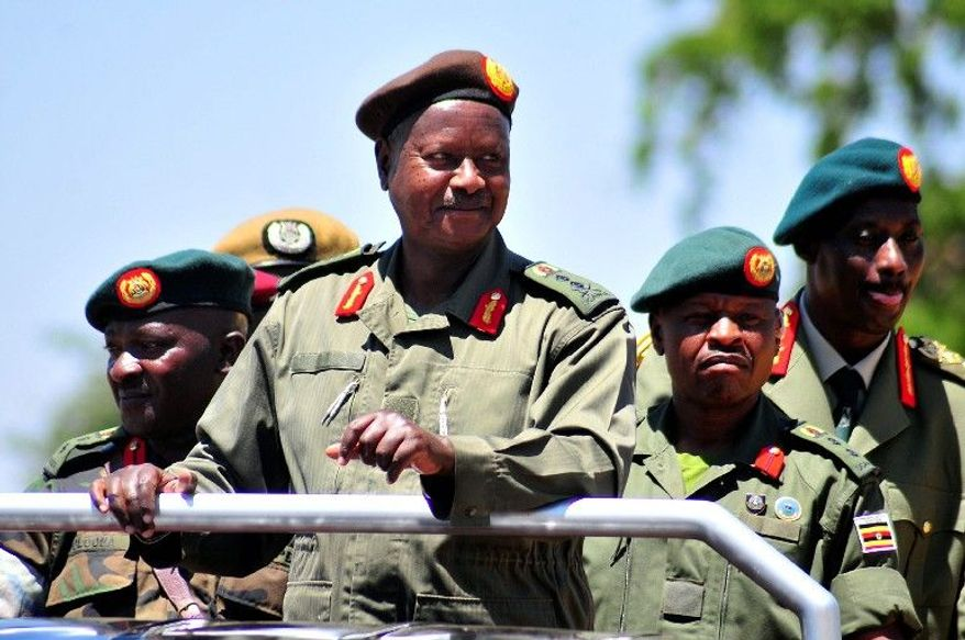 Yoweri Museveni, president of Uganda since 1986, is up for re-election Friday and is leading in the polls. (Associated Press)
