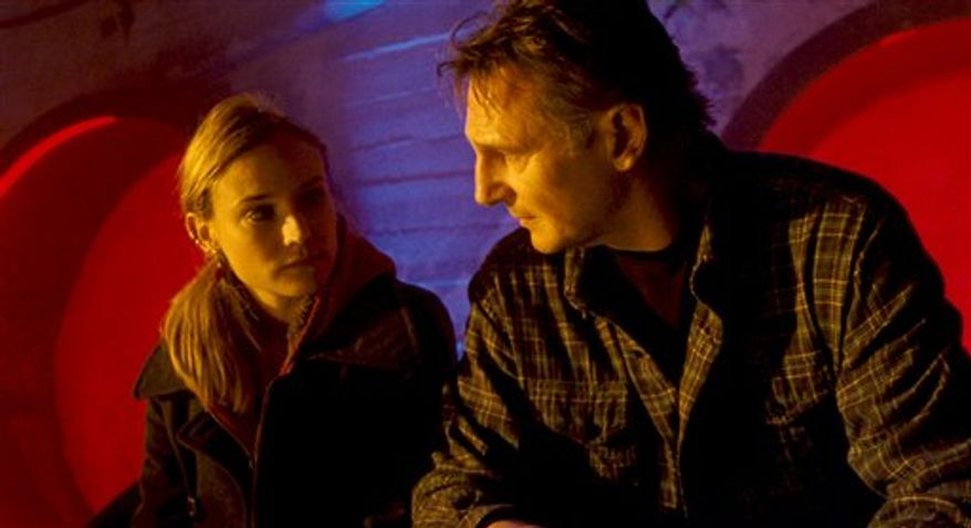 """In this film publicity image released by Warner Bros. Pictures, Diane Kruger, left, and Liam Neeson are shown in a scene from, """"Unknown."""" (AP Photo/Warner Bros. Pictures)"""
