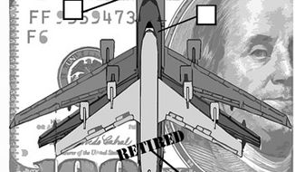Illustration: Boeing v. EADS by Alexander Hunter for The Washington Times