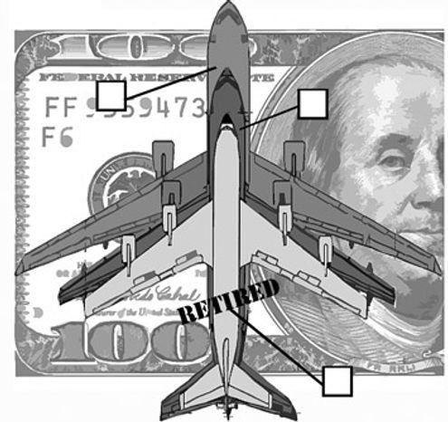 Illustration: Boeing v. EADS by Alexander Hunter for The Washington Times