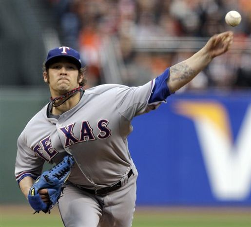The Washington Nationals are known to be interested in adding another top-tier starter through free agency. They'd prefer it be a southpaw. C.J. Wilson is under consideration, but will his price tag make the Nationals better fits for Mark Buehrle or even right-hander Roy Oswalt? (AP Photo/Jeff Chiu, File)