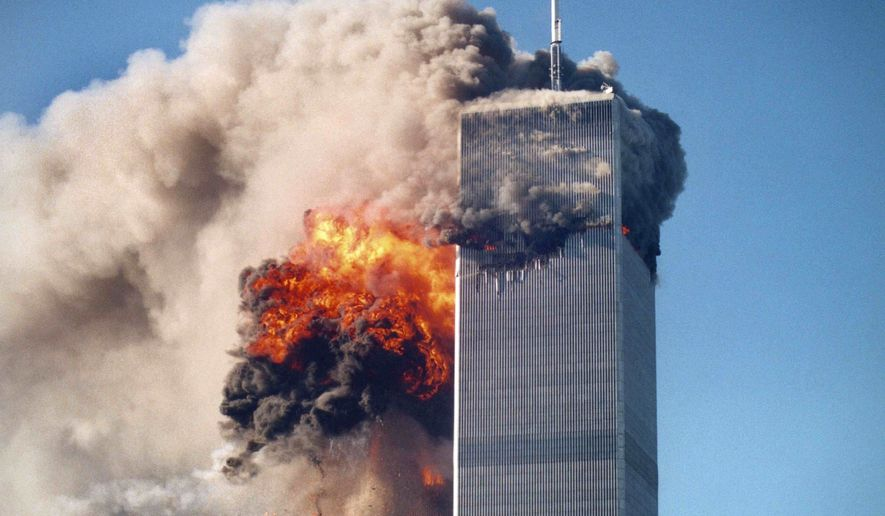 The World Trade Center terror attacks in New York on Sept. 11, 2001. (Associated Press)