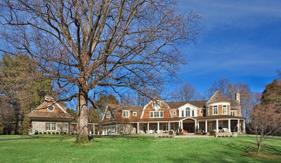 The estate home at 9009 Congressional Court in Potomac is on the market for $7,685,000. The home, which has more than 19,000 square feet, has eight bedrooms, eight full baths and nine fireplaces.