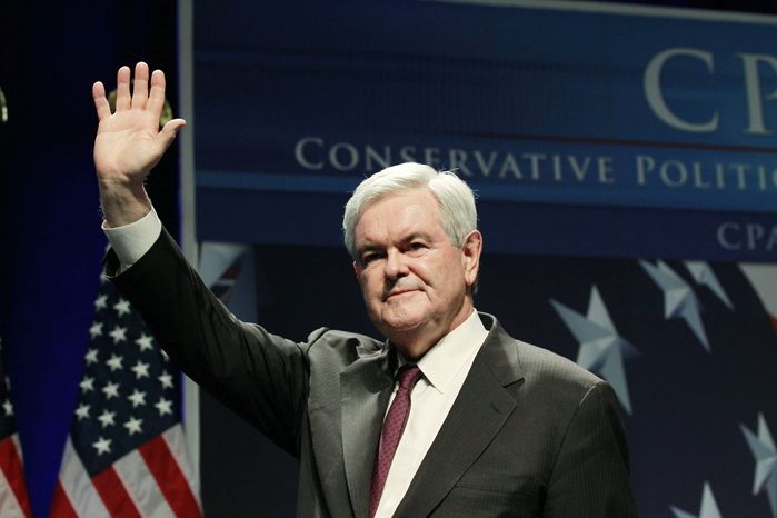 Former House Speaker Newt Gingrich is expected to make clear within two weeks whether he will seek the Republican nomination for president in 2012. If so, he will be one of the first to make it official. (Associated Press)