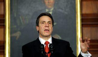 ** FILE ** New York Gov. Andrew Cuomo (Associated Press)