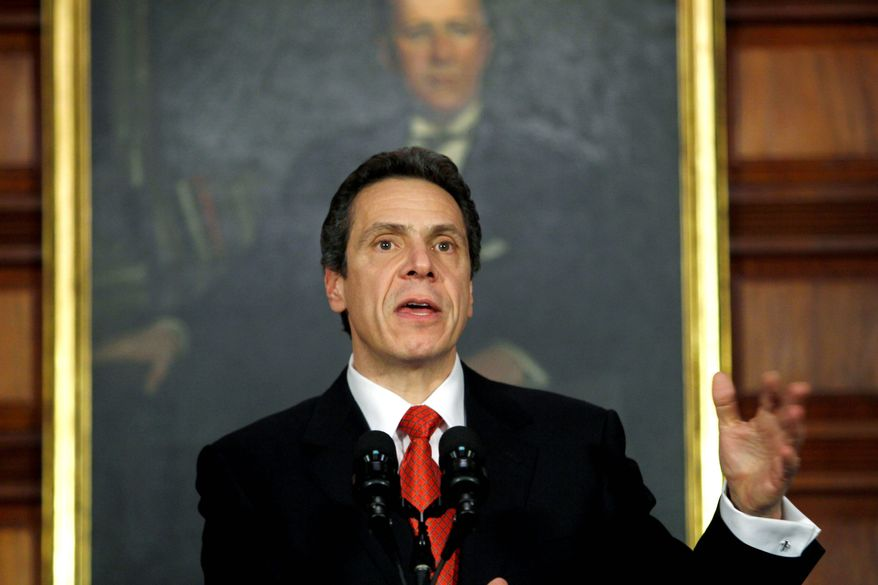 ** FILE ** New York Gov. Andrew Cuomo (Associated Press)