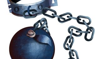 Illustration: Collective bargaining by Linas Garsys for The Washington Times
