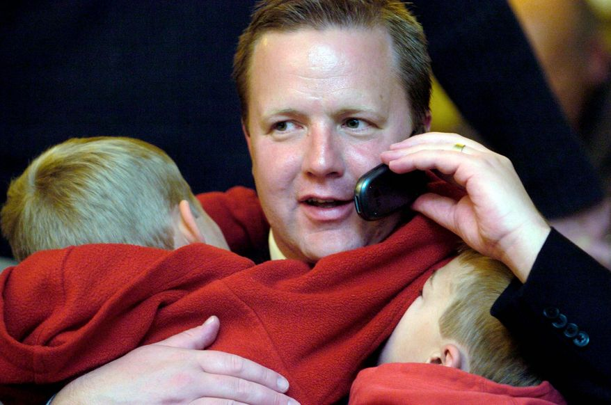 Corey A. Stewart (with sons Lucas and Isaac), chairman of the Prince William Board of County Supervisors, hasn't decided whether he will run for the U.S. Senate in 2012. He was elected to a four-year term as chairman in 2007 and is seeking re-election this year. (The Washington Times)