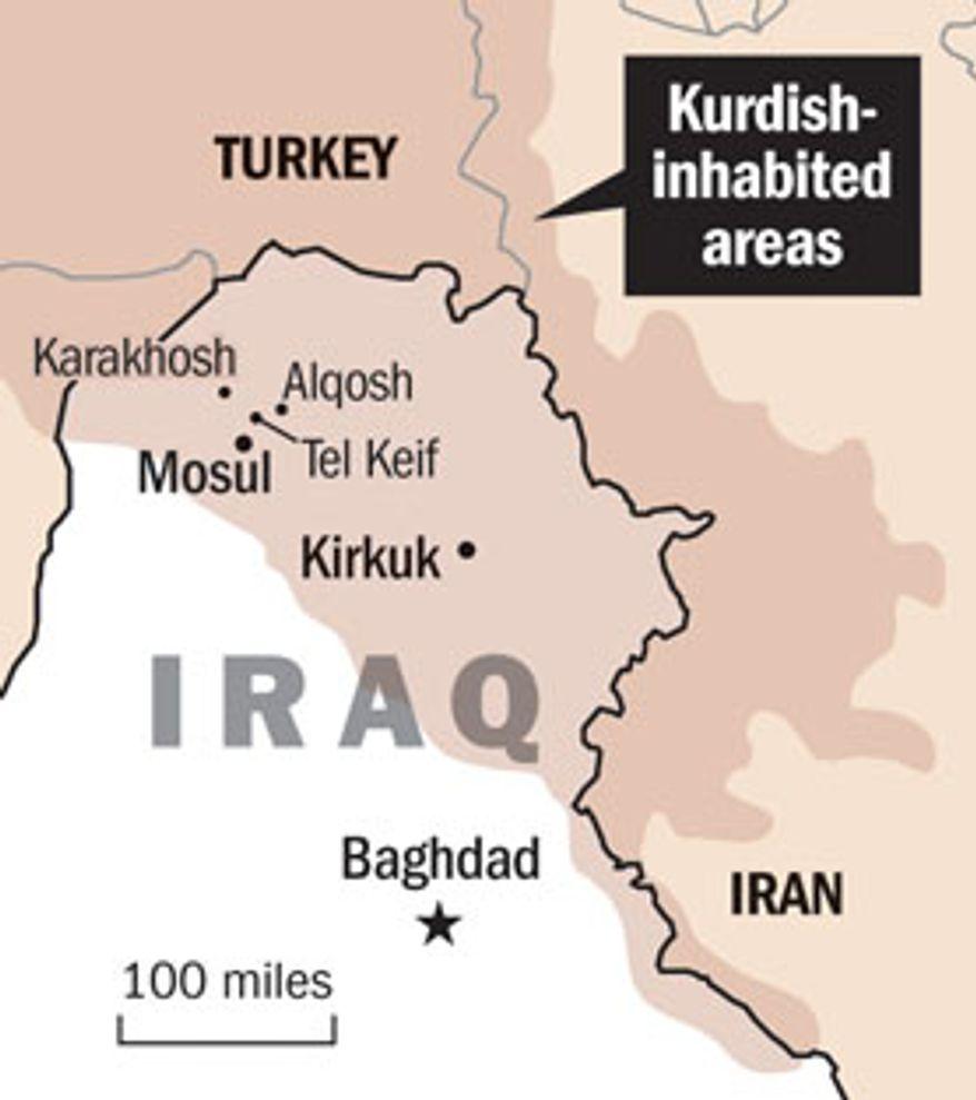 Illustration: Kurdish-inhabited areas