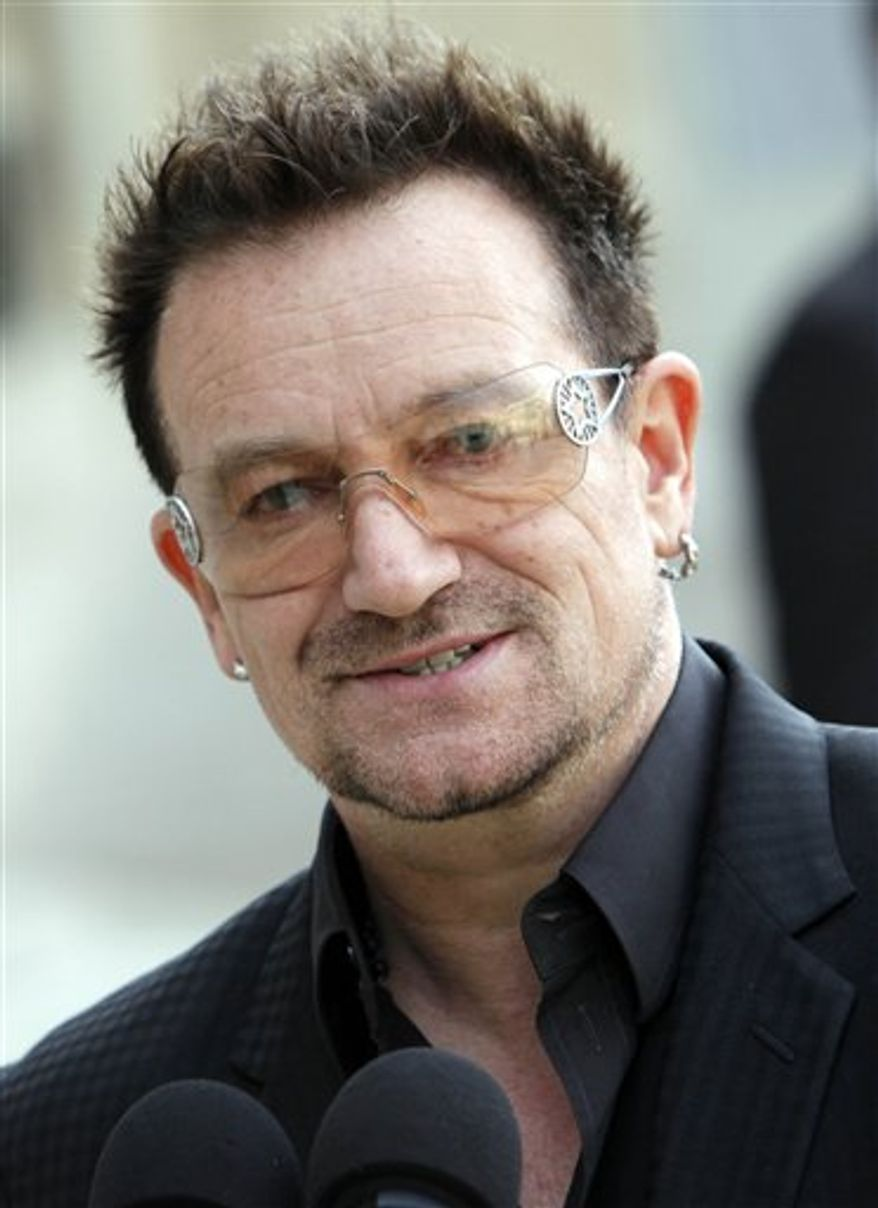 **FILE** U2 lead singer Bono (Associated Press)