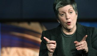 "When a Republican lawmaker took issue Wednesday with Homeland Security Secretary Janet Napolitano's assessment of proposed funding levels, she noted the ""strong difference of opinion."" (Associated Press)"