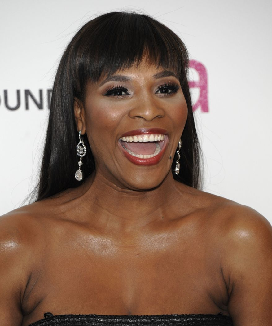 Tennis player Serena Williams arrives at the 2011 Elton John Academy Award viewing party in West Hollywood, Calif. on Sunday, Feb. 27, 2011. (AP Photo/Dan Steinberg)