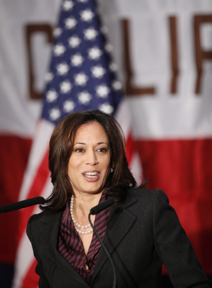 California Attorney General Kamala Harris (AP Photo/Damian Dovarganes)