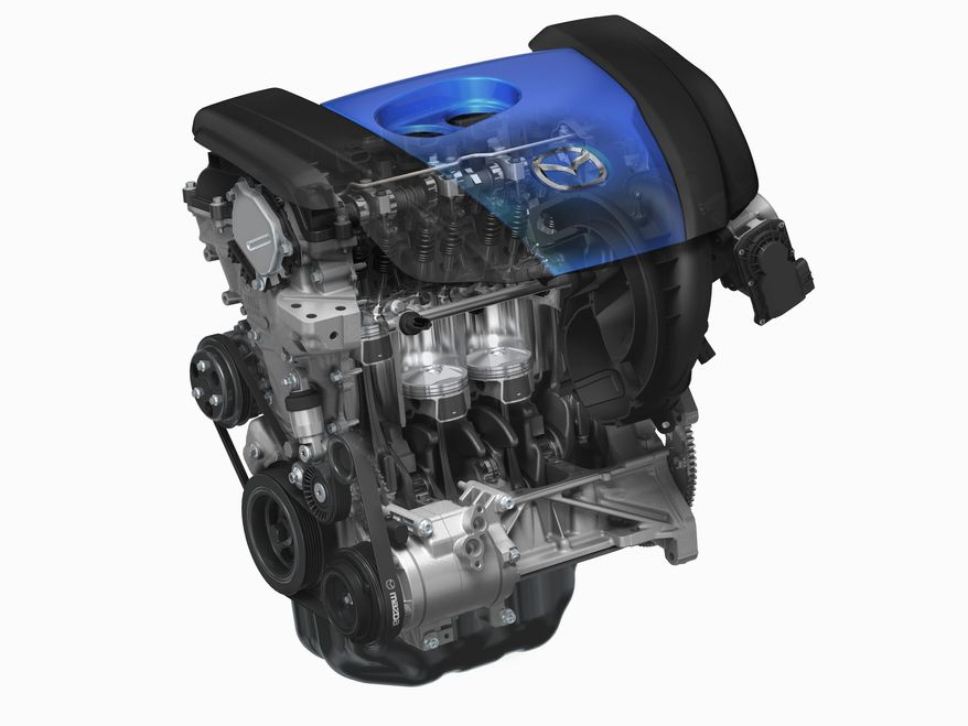 Mazda will introduce a super-efficient SKYACTIV-G petrol engine and a SKYACTIV-Drive automatic transmission.