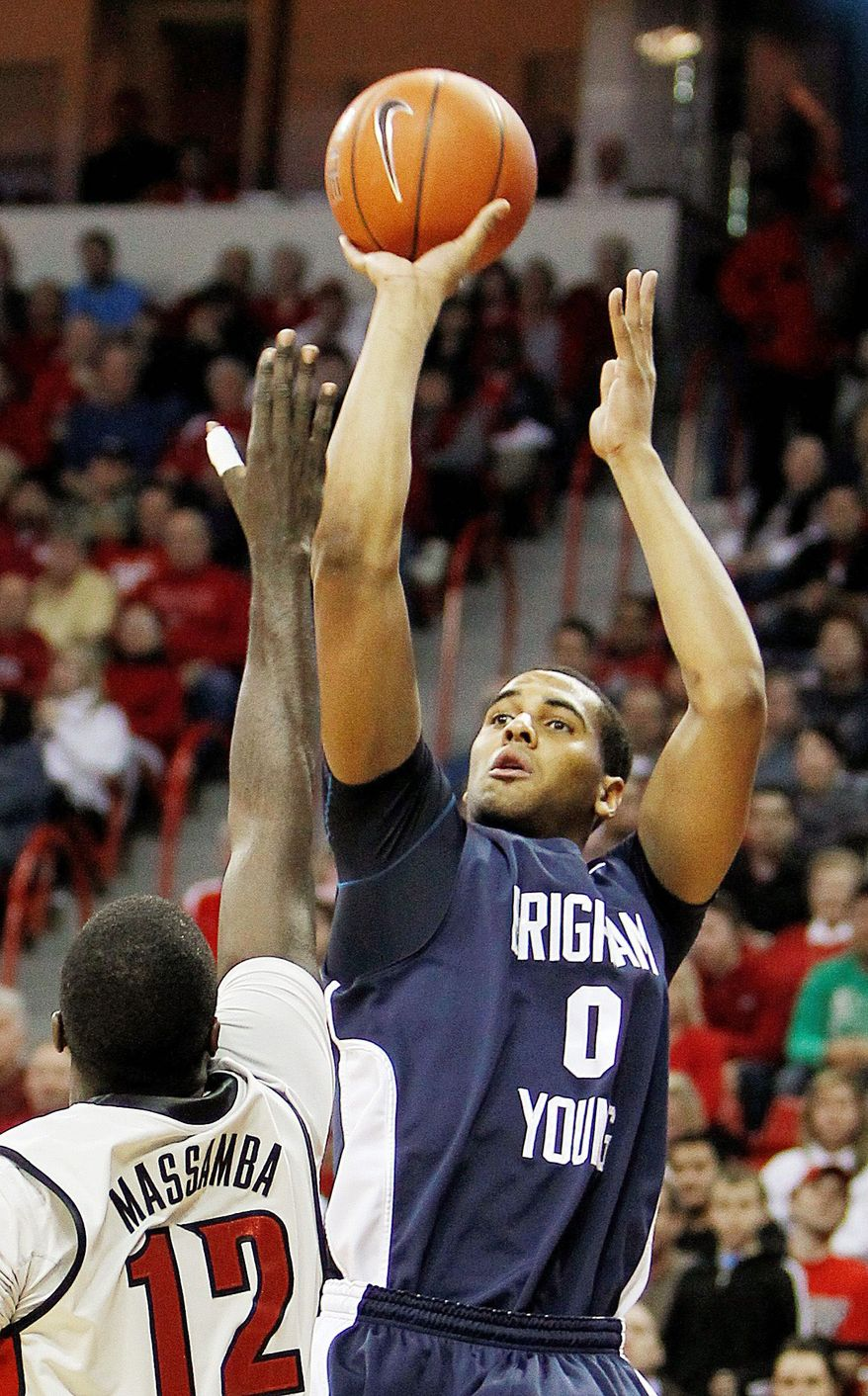 MARCH SADNESS: Brandon Davies has been suspended from the BYU basketball team for the rest of the season for violating the school's honor code. (Associated Press)
