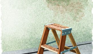 Illustration: Affirmative ladder by Alexander Hunter for The Washington Times