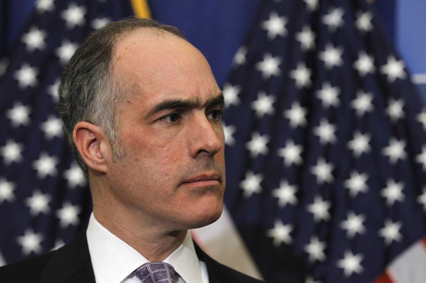 "** FILE ** Sen. Robert Casey Jr., D-Pa., is seen during a news conference on Capitol Hill in Washington, in this Feb. 3, 2011, file photo. The Senate passed a resolution this week urging an international probe into war crimes allegations. Casey, who introduced the Senate resolution, said that a ""state of denial"" exists in the Sri Lankan government that is ""not helpful"" in achieving accountability for the bloodshed. (AP Photo/Alex Brandon)"