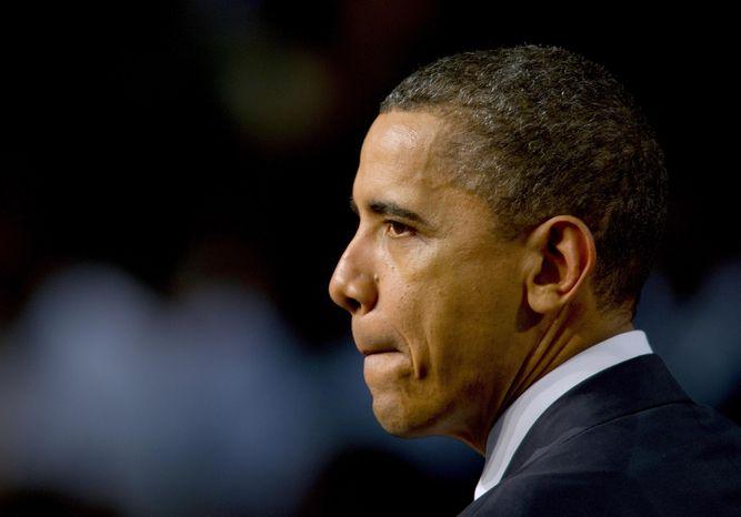 President Barack Obama speaks at Miami Central Senior High School in Miami, Friday, March. 4, 2011. (AP Photo/Steve Mitchell)