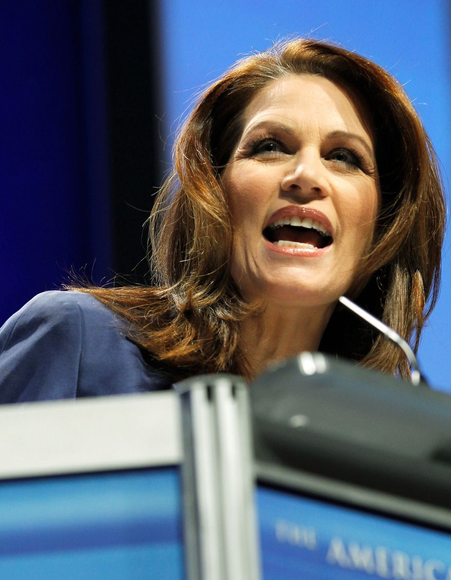 """Of her party's proposed $60 billion in budget cuts, Rep. Michele Bachmann, Minnesota Republican, said, """"We can't stop there."""" (Associated Press)"""