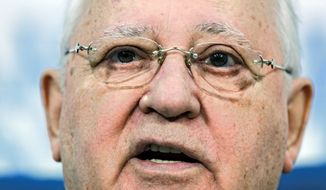 """Former Soviet leader Mikhail Gorbachev said that Russia has only """"imitations"""" of a parliament and judicial system. Mr. Gorbachev criticized Prime Minister Vladimir Putin and his protege, President Dmitry Medvedev, for saying that they will decide between them who should run for president in Russia's March 2012 presidential vote. (Associated Press)"""
