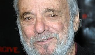 """FILE - In this Dec. 3, 2007 file photo, composer Stephen Sondheim arrives at the premiere of """"Sweeney Todd: The Demon Barber of Fleet Street"""" at the Ziegfeld Theatre in New York. Broadway master Stephen Sondheim is to receive a special prize at Britain's Laurence Olivier Theater Awards. Organizers said Friday, March 4, 2011,  that the 80-year-old composer and lyricist would accept the award in person during the March 13 ceremony at London's Theatre Royal Drury Lane. (AP Photo/Peter Kramer, file)"""