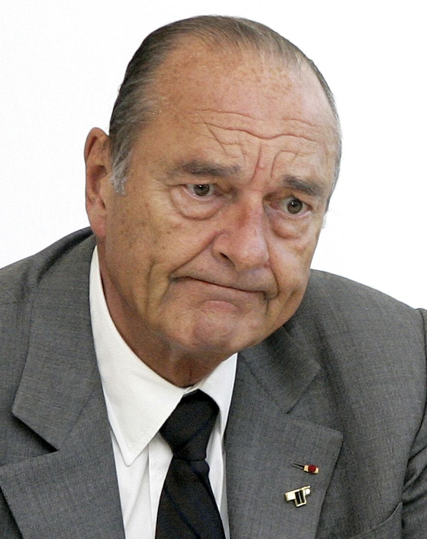 ** FILE ** Former French President Jacques Chirac (AP Photo/Michel Euler, File)