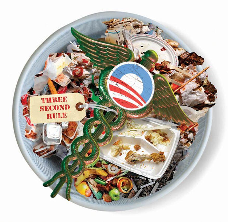 Illustration: Obamacare trashed
