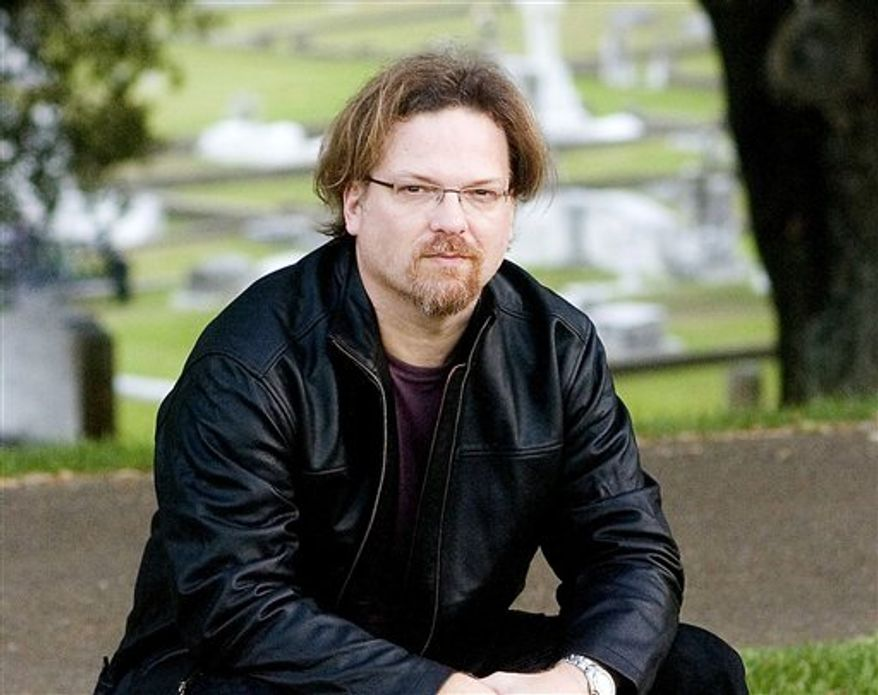 """In this image released by Scribner, Greg Iles, author of """"The Devil's Punchbowl,  is shown. Mississippi writer Greg Iles is hospitalized in serious condition after being injured in a traffic accident in Natchez.  Adams County Sheriff Chuck Mayfield said Iles, who lives in Natchez, was injured when his car collided with a pickup truck in U.S. Highway 61. Patrice Guilfoyle, a spokeswoman for the University of Mississippi Medical Center, said Iles was admitted Monday night. (AP Photo/Scribner, Ben Hillyer)"""