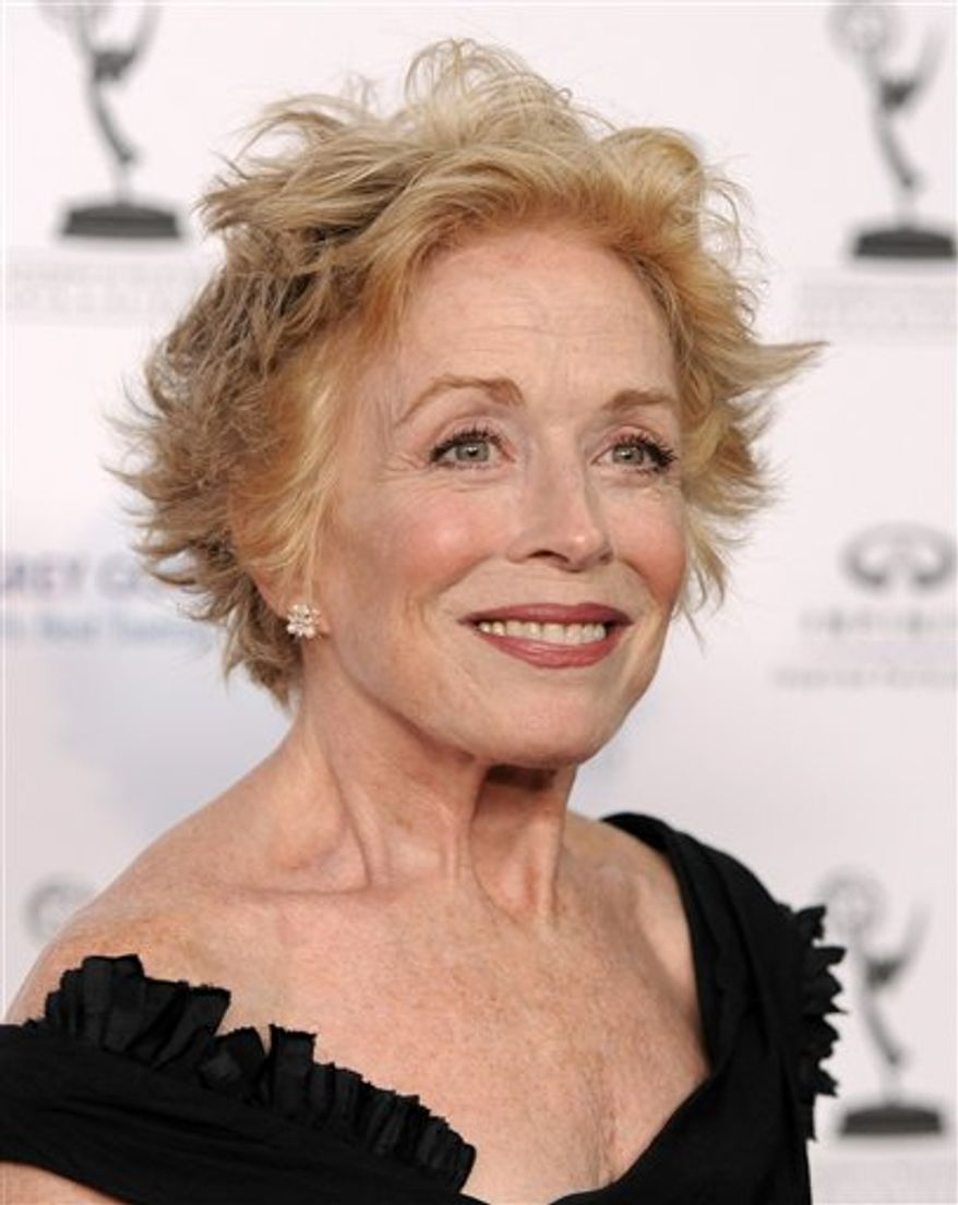 "FILE - In this Aug. 27, 2010 file photo, actress Holland Taylor from the comedy series, ""Two and a Half Men."" arrives at the 62nd Primetime Emmy Awards Performers Nominee Reception in West Hollywood, Calif. (AP Photo/Chris Pizzello, file)"
