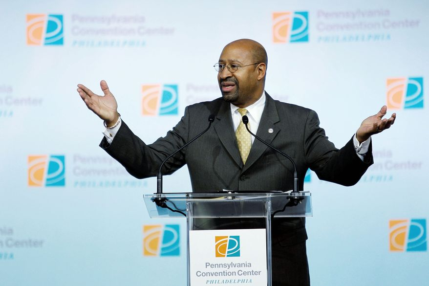 """Philadelphia Mayor Michael A. Nutter is one of many U.S. mayors seething at proposed cuts to community block grants. He called the concept """"outrageous, unacceptable and un-American."""" (Associated Press)"""