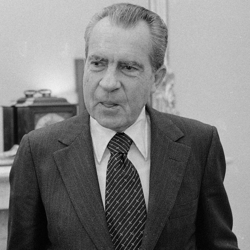 "The Nixon Center, founded by President Richard M. Nixon before he died in 1994, has dropped ""Nixon"" to become the more generic Center for the National Interest. (Associated Press)"